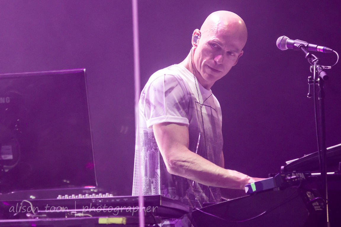 PORT ZEELAND, The Netherlands: Mark Kelly, keyboardist with Marillion,  performing Anoraknophobia in its entirety, on the Friday evening, 20th March 2015, first day of the 2015 Marillion Weekend convention, Port Zeeland, The Netherlands, March 2015.